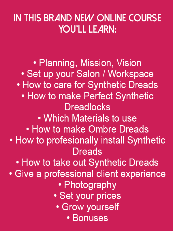 What's in the Online Synthetic Dreadlock Stylist Course