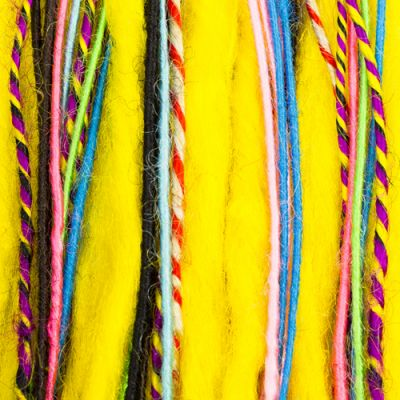 5 Dreads Doubles Assorties 40 cm